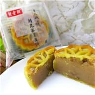 黄金兴桃山皮鲜花蜜豆月饼