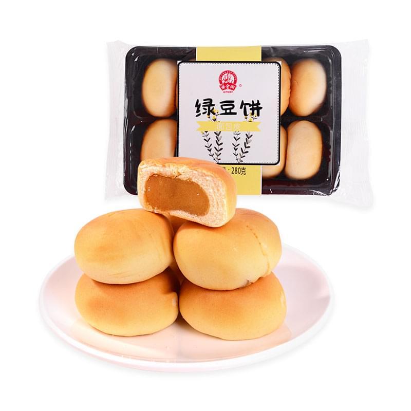 黄金兴绿豆饼(面包皮)