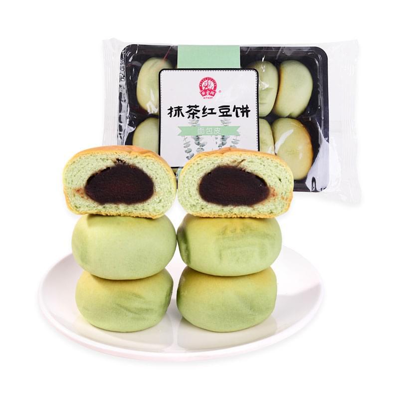 黄金兴抹茶红豆饼(面包皮)